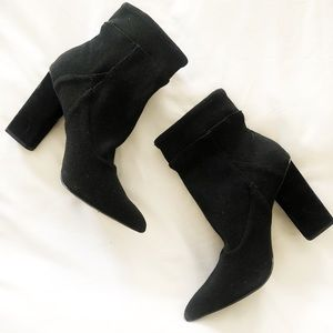 H by Halston Evelyn Ribbed Sock Boot